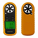 Prosteruk Anemometer Wind Speed Meter Scale Guage Measure - Air Velocity Air Flow Meter with LCD Display for Sailing Surfing Windsurfing Fishing Kite Flying