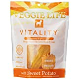 Dogswell Veggie Life Vitality Sweet Potato Chew Treats for All Dogs, 5-Ounce Pouches (Pack of 6) ~ Dogswell