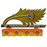 Bubber's Wooden & Paper Mace More - Pankhi 4 Key Hanging(20x22x21cm,Yellow)