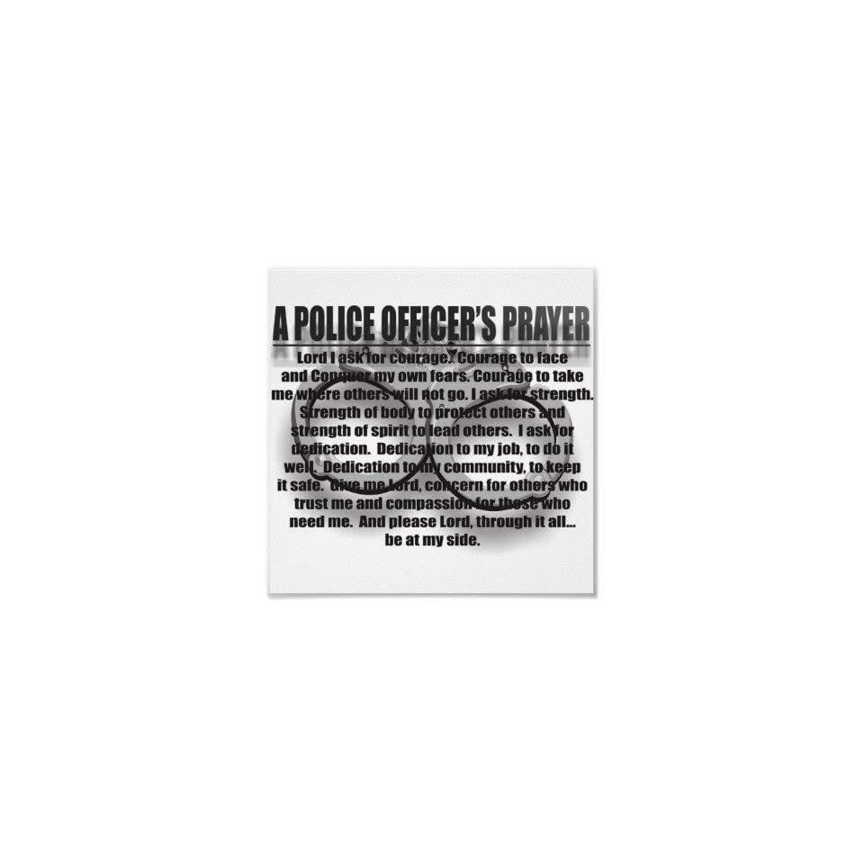 A Police Officers Prayer Poster