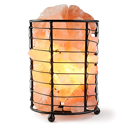 HemingWeigh Metal Cylinder Lamp 15 cm with Salt Chips, Electric Wire & Bulb