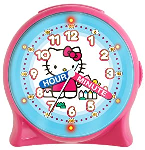 Hello Kitty HKC196 Time Teacher Light-Up Desk Clock (Pink)