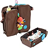 Mo+m 3-in-1 Convertible Diaper Bag, Baby Changing Pad & Travel Bassinet Infant Bed - Convenient All In One Tote...