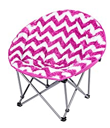 3C4G Chevron Moon Chair Hot Pink
