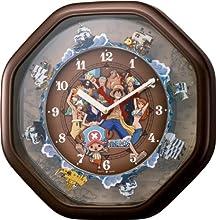 ONEPIIECE からくり掛時計 茶色メタリック色 4MH880-M06