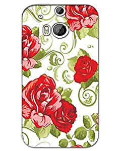 3d Htc One M8 Back Cover Designer Hard Case Printed Mobile Cover