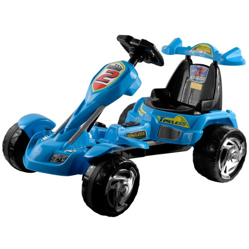 Lil' Rider Battery-Powered Blue Ice Go-Kart, Blue front-722725