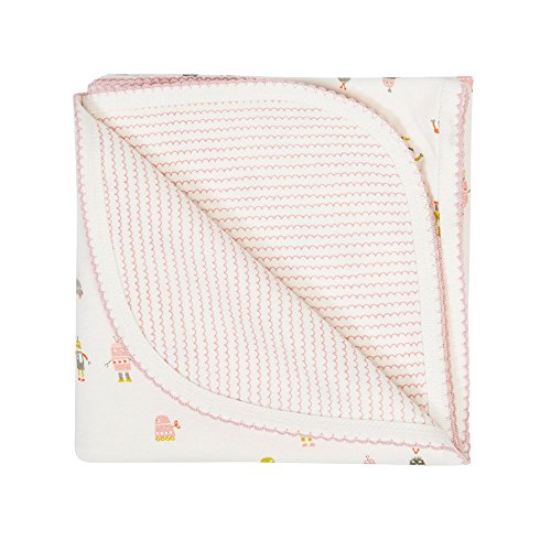 Auggie Robot March Pink Baby Blanket, Pink