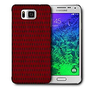 Snoogg Red_Polkadots Printed Protective Phone Back Case Cover For Samsung Galaxy SAMSUNG GALAXY ALPHA