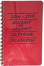 2016-2017 August to August Calendar Organizer - Crimson (Red)
