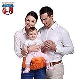 Kangaroobaby® Hipseat y pantalla a juego para del bebé Color de cuatro estructuras de naranja
