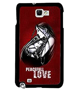 Fuson Perfect Love Back Case Cover for SAMSUNG GALAXY NOTE 1 - D3987