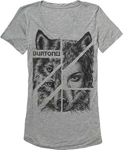 Burton Damen T-Shirt Women's Shewolf, Heather Grey, XL, 12374100076