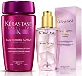 Kerastase Reflection Bain Chroma Captive 80ml & Elixir Ultime 50ml Travel Kit