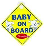 Clippasafe Ltd Baby And Child On Board Sign