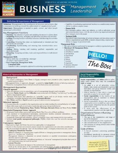 Business:Management Leadership (Quickstudy: Business)