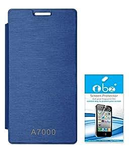 TBZ Flip Cover Case for Lenovo K3 Note / A7000 with Screen Guard -Royal Blue