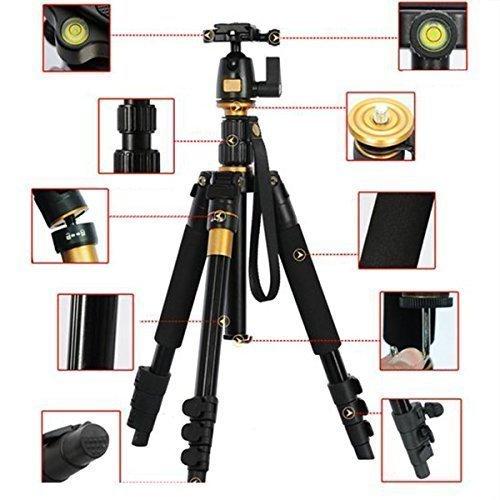 AFAITH-portatile-professionale-di-magnesio-in-lega-di-alluminio-treppiede-monopiede-e-testa-della-sfera-per-DSLR-SLR-Canon-Nikon-Pentax-Sony-Treppiede-Q-555