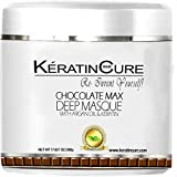 Keratin Cure Chocolate Max Deep Hair Mask Masque Moisturizing Reparation Shea Butter Argan Oil Strengthen Boosts Growth Smooths Frizz Scalp Treatment for all types 17 oz (Tamaño: 1000gr/ 32 oz)