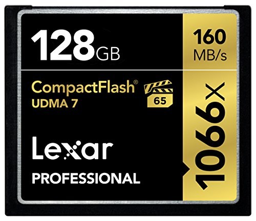 Lexar Professional 1066x 128GB VPG-65 CompactFlash card (Up to 160MB/s Read) w/Free Image Rescue 5 Software LCF128CRBNA1066 (Lexar Cf 64gb compare prices)