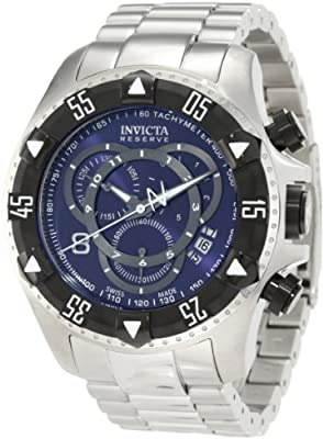 Invicta Men's 1882 Reserve Chronograph Blue Dial Stainless Steel Watch