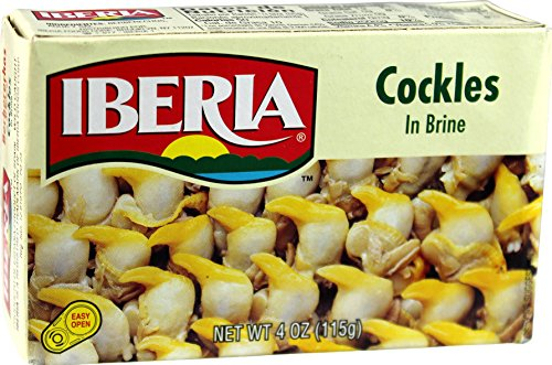 Cockles In Brine, Wild Caught (Pack of 3) 4 oz Tin - Iberia (White Pickled Ginger compare prices)