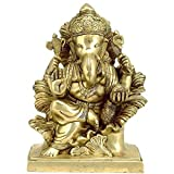 Redbag Lord Ganesha - Brass Sculpture BS0139 ( 29.85 Cm, 22.86 Cm, 12.7 Cm)