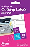 Avery Create Your Own Non Iron Clothing Labels - White (Pack of 30)