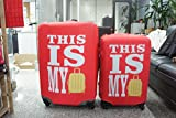 2 PCS Expandable Luggage Protector Cover ,M & L Size Travel with Me