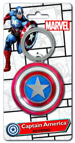 Marvel Captain America Shield Pewter Key Ring - 1