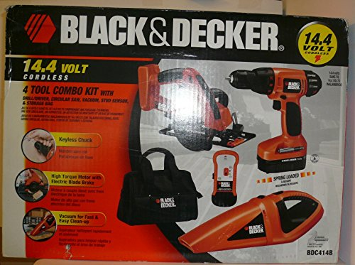 Black & Decker 14.4V Cordless 4-Tool Combo Kit Bdc414B