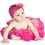 3 Piece Set: EXTRA FLUFFY, Pink and Hot Pink Tutu / Headband / Bow (6 to 18 months) thumbnail
