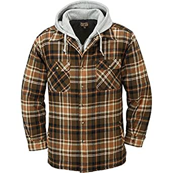 Gravel Gear Sherpa Lined Hooded Flannel Shirt