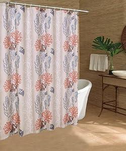 coral wreath shower curtain caribbean joe