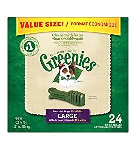 Greenies 10096457 36-Ounce Canister, Large, 24 count