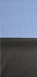 Grasim Men's Cotton Shirt and Trousers Fabrics (3, Blue and Black)