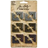 Metal Corners by Tim Holtz Idea-ology, 12 per pack, 1 Inch, Antique Finishes, TH92789