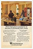 1977 Pearl Bailey White Westinghouse Washer Dryer Print Ad (9754)