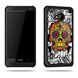 Sugar Skull Orange Tattoo Phone Case Shell for HTC One