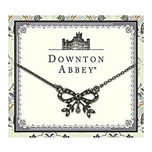 Downton Abbey Collection Jeweled Jet Bow Necklace 17579