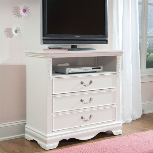 Standard Furniture Jessica TV Stand in Clean White Finish