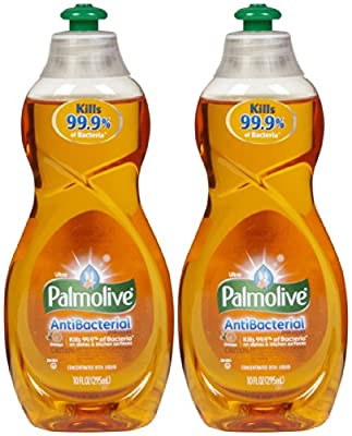 Palmolive Ultra Antibacterial Orange Dish Washing Liquid, 10oz