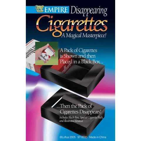 Empire Magic's Disappering Cigarettes - Make a Pack Magically Vanish