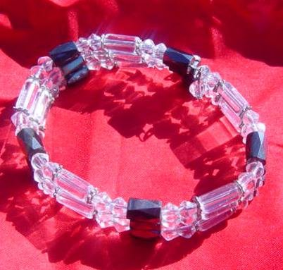 Clear Crystal Magnetic Necklace, bracelet, or anklet