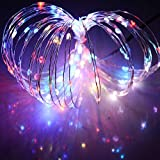 Minger Led String Lights 20ft 120 Leds Waterproof Starry String Light for Holiday, Party, Christmas, New Year, Wedding, Patios, Gardens, Homes, Lawns, Trees Decoration (RGB)