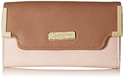Jessica Simpson Frances Med Flap Wallet, Ash Rose/Taupe, One Size