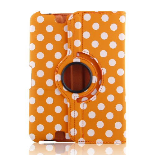 "Generic Pu Leather Auto Sleep/Wake All-New Luxury Stylish Slim-Fit Ultra Lightweight 360 Degrees Rotating Swivel Stand Polka Dot Pattern Design Series Smart Cover Case Skin Multi-Angle Viewing For Amazon Kindle Fire Hd 7"" Tablet (Only For 2012 Old Model)"