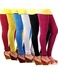 Butterfly Women's Pink, Black, White, Blue, Yellow, Red Leggings  (Pack Of 6)
