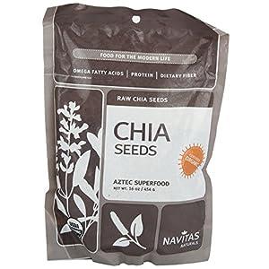 Navitas Naturals Organic Raw Chia Seeds, 1 Pound Pouches
