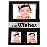 Purpledip Glass Collage photo frame for Desktop, 3 photos of size 4x6 and 2x2 (10241)
